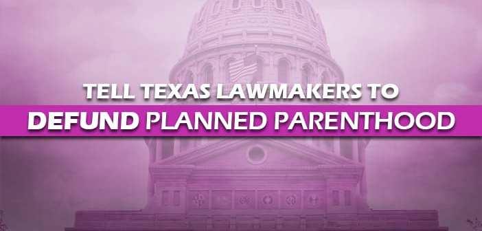 Defund Planned Parenthood in Texas