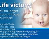 Texas Pro-Life Health Insurance Reform takes effect