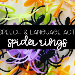 "5 Fun Speech & Language Activities: ""Spider Rings"""