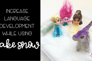 How To: Increase Receptive & Expressive Language Skills With Fake Snow!