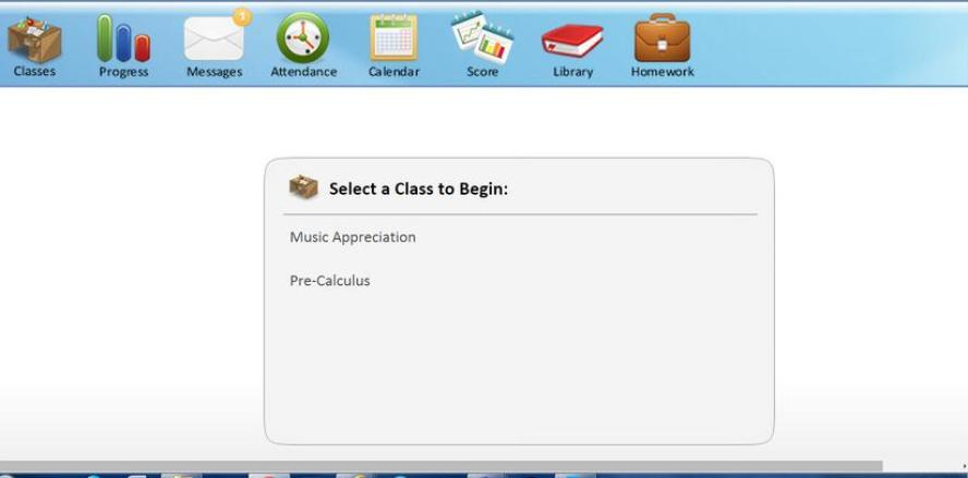 Easy to use student dashboard at Texas Success Academy