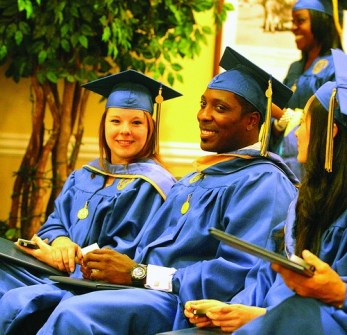 Adults graduating from high school with an accredited high schoold diploma
