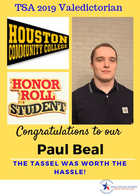 Awards await our valedictorian when you graduate from Texas Success Academy K12 program