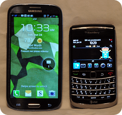 Samsung Galaxy S3 vs. Blackberry Bold 9700
