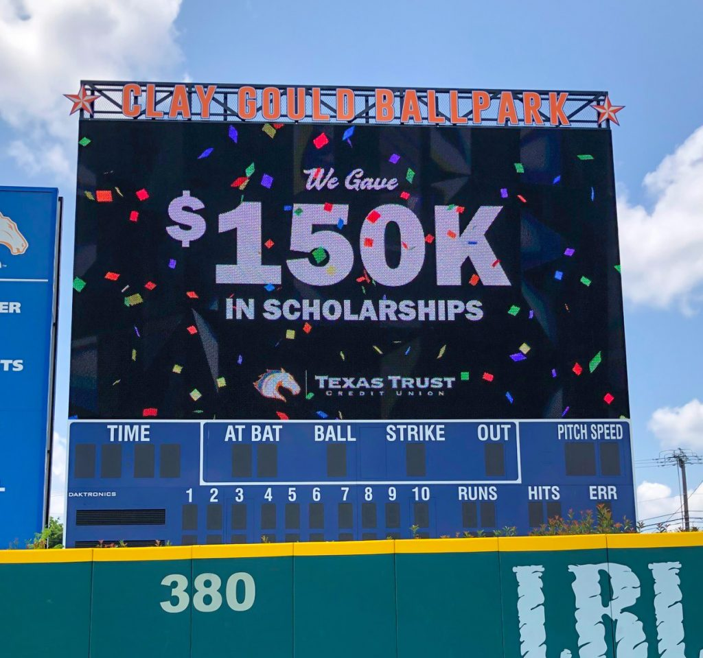 If your grades are a little less than stellar, ask for letters of recommendations from your professors. Texas Trust S Ut Arlington Mavericks Spirit Debit Card Raises 150 000 For Athletic Scholarships Texas Trust Credit Union