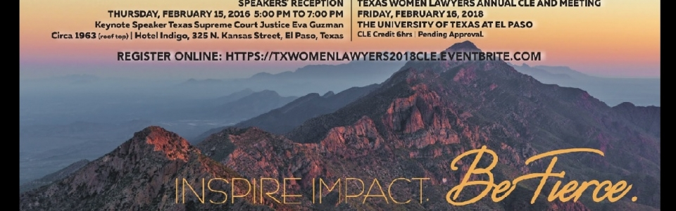 Join us in El Paso 2/15-2/16!
