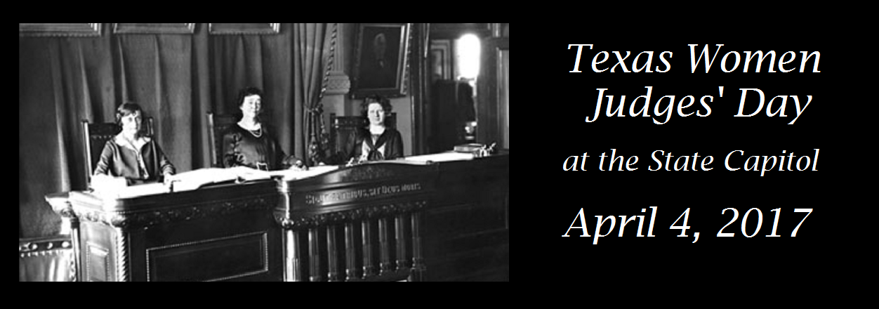 Come Celebrate Texas Women Judges, April 4! (All Female Supreme Court of Texas – 1925)