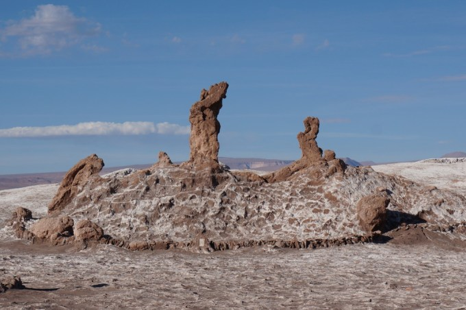 Las Tres Marias, a rock formation resembling three women (Marias) praying (the Maria to the left was sadly broken by a tourist a few years ago).