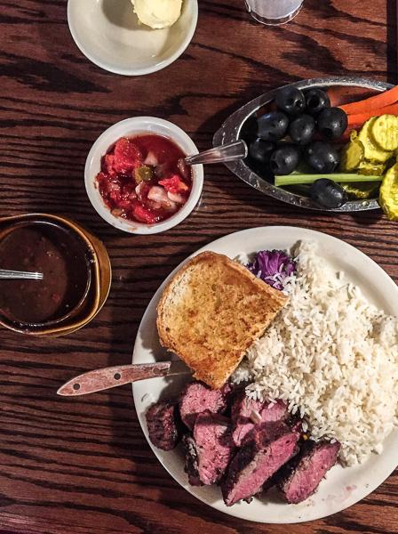 Tri-tip entrée at Shaw's Steakhouse in Santa Maria.