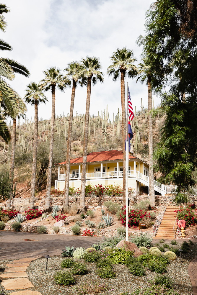 castle hot springs resort entrance