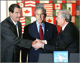Vicente Fox, George Bush, Paul Martin