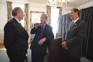 George Bush, Vicente Fox, Paul Martin in Waco