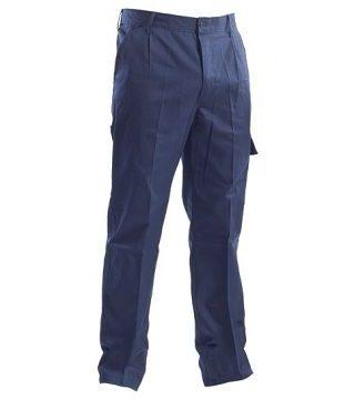 Pantalone blu cotone 100%