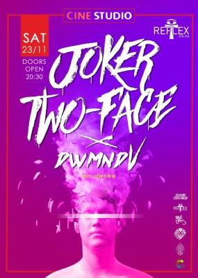 Συναυλία Joker/Two-Face το Σάββατο 23 Νοεμβρίου στο Cine Studio