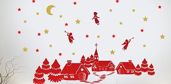 Χριστουγεννιάτικες Ιδέες Διακόσμησης με αυτοκόλλητα τοίχου