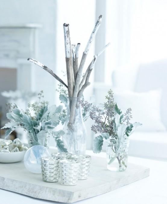 Χριστουγεννιάτικη διακόσμηση σε λευκό και ασημί  - Δημιουργία ενός παραμυθιού στο χιόνι