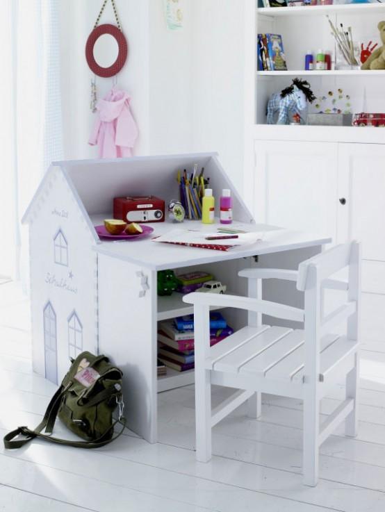 Ιδέες για όμορφα παιδικά γραφεία για ζωγραφική και γράψιμο