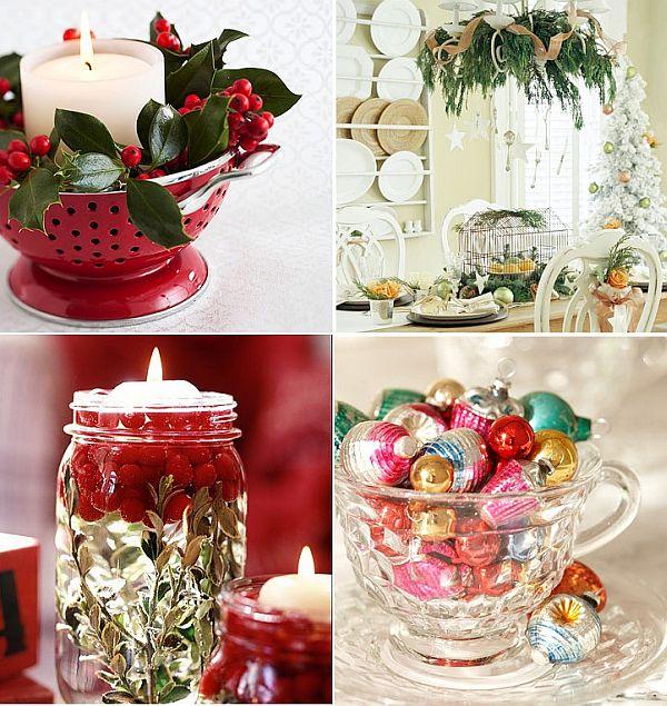 Χριστουγεννιάτικη διακόσμηση με είδη κουζίνας