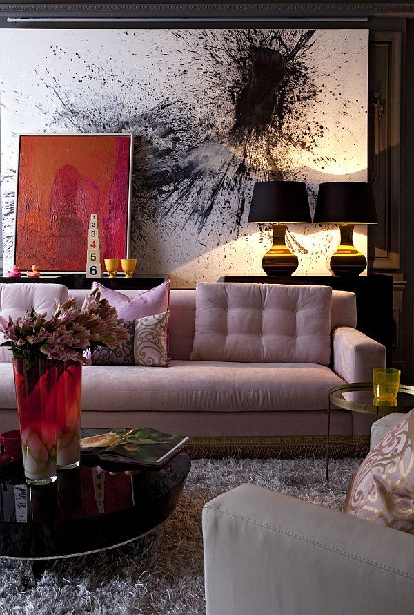 Πώς να επιλέξετε έργα τέχνης για το σαλόνι σας