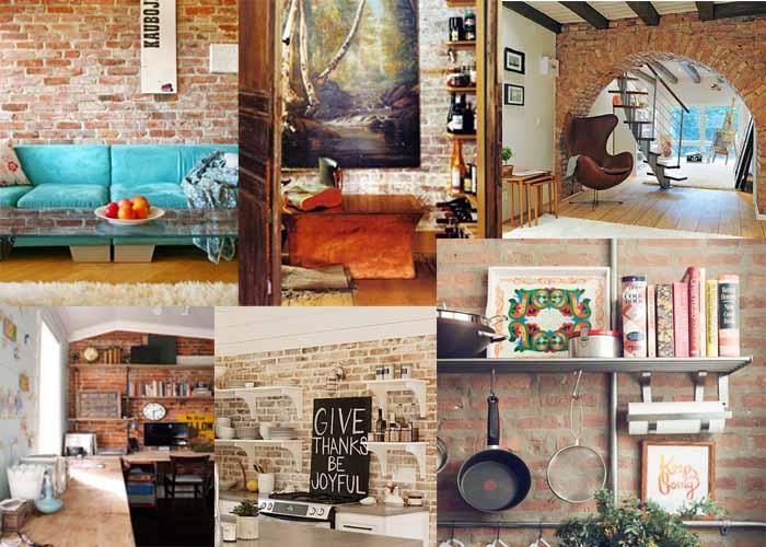 40 Ιδέες εσωτερικού σχεδιασμού με πλίνθινους τοίχους