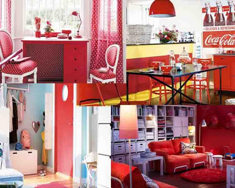 Κόκκινο Χρώμα - Ελκυστικές Ιδέες διακόσμησης