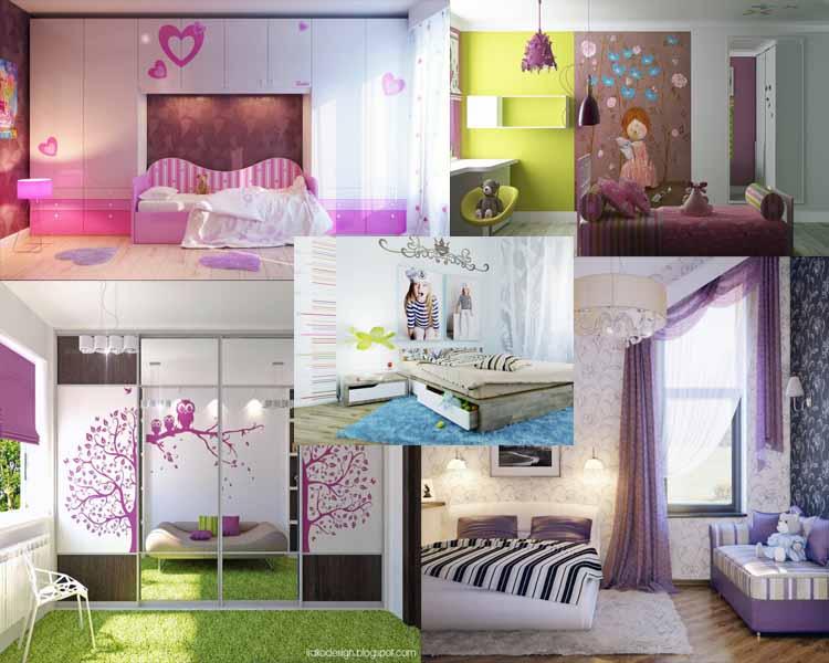 Χαριτωμένα κοριτσίστικά δωμάτια