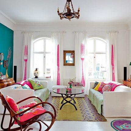 Ονειρικές Ιδέες σχεδιασμού για πολύχρωμα σαλόνια25