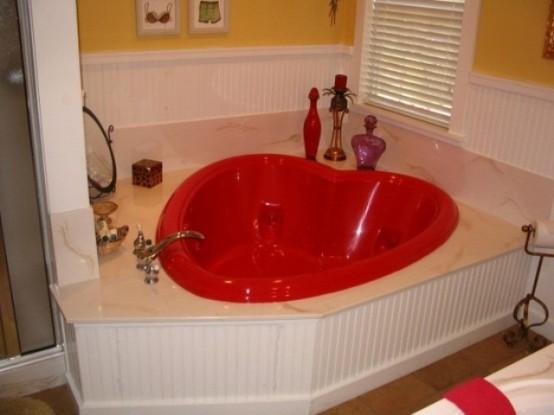 Διακόσμηση Αγίου Βαλεντίνου μπάνιο