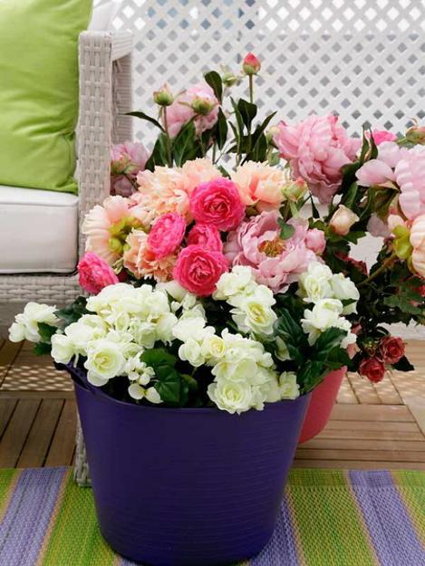 ροζ και πράσινοι συνδυασμοί χρωμάτων για την εξωτερική διακόσμηση2