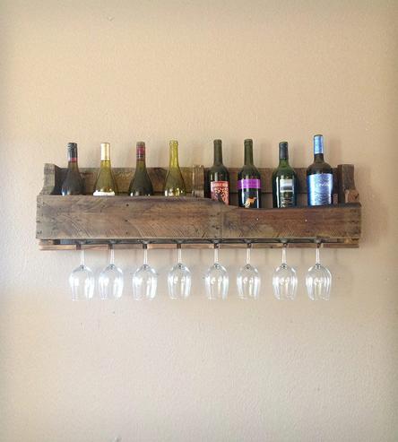 Diy ράφια κρασιών από παλέτες
