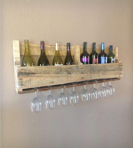 Diy ράφια κρασιών από παλέτες4