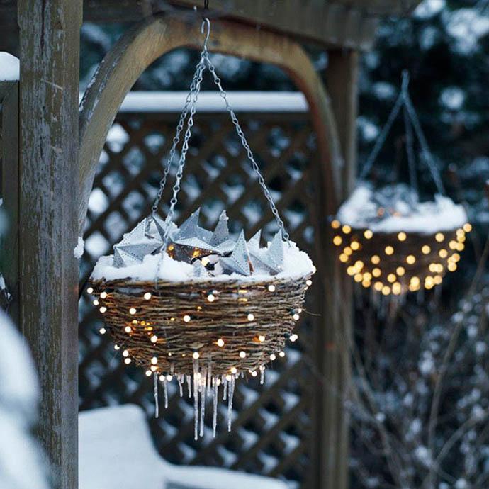 Χριστουγεννιάτικες ιδέες διακόσμησης με εξωτερικά φωτάκια5