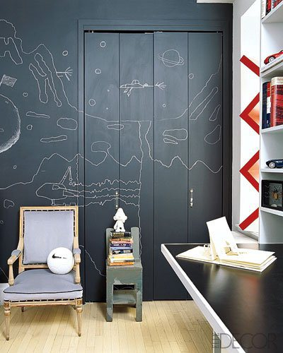 Ιδέες με Χρώμα μαυροπίνακα για παιδικό δωμάτιο6
