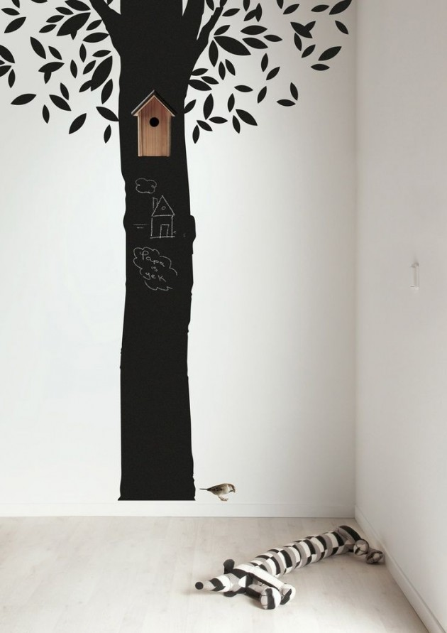Ιδέες με Χρώμα μαυροπίνακα για παιδικό δωμάτιο7