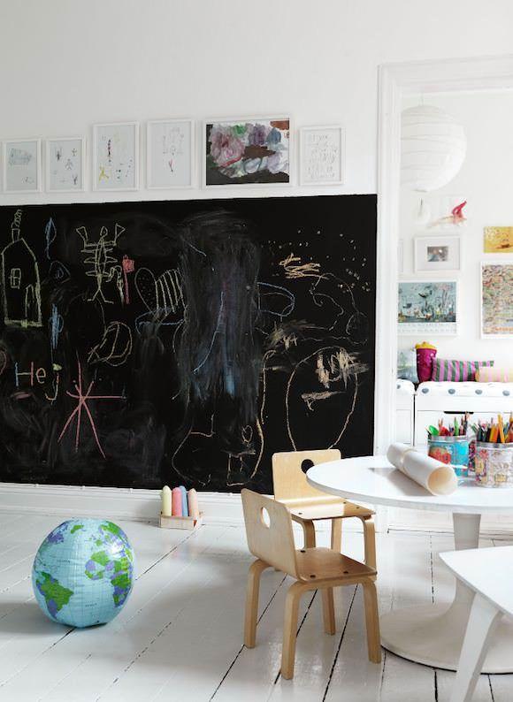 Ιδέες με Χρώμα μαυροπίνακα για παιδικό δωμάτιο8