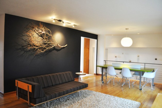 ιδέες  σχεδιασμού για να τονίσετε ένα τοίχο στο σαλόνι σας25