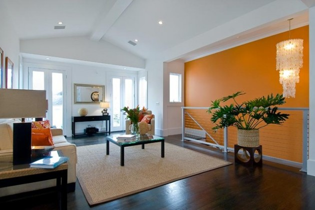 ιδέες  σχεδιασμού για να τονίσετε ένα τοίχο στο σαλόνι σας3