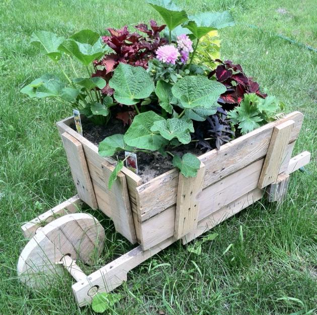 DIY Έργα Κήπου από ανακύκλωση ξύλου12