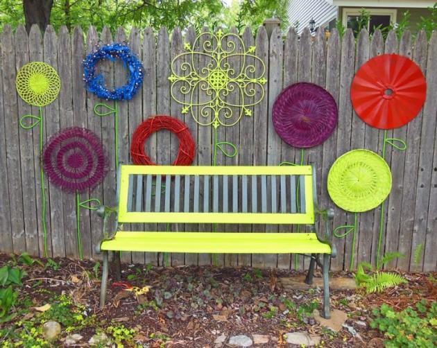 DIY WallArt Ιδέες για τον φράχτη του Κήπου σας23