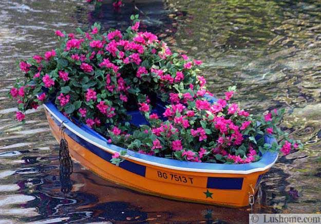 ασυνήθιστα δοχεία και γλάστρες για λουλούδια1