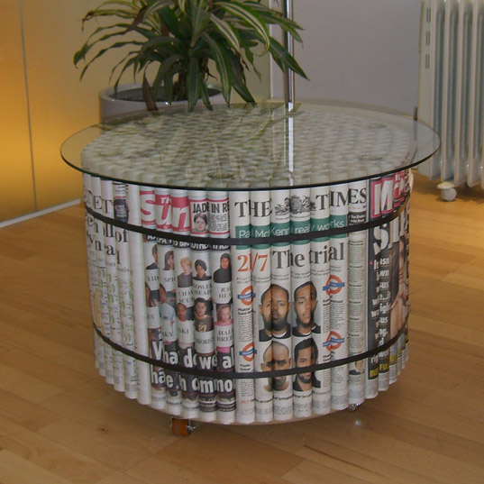 Δροσερά Diy Έπιπλα φτιαγμένα από εφημερίδες