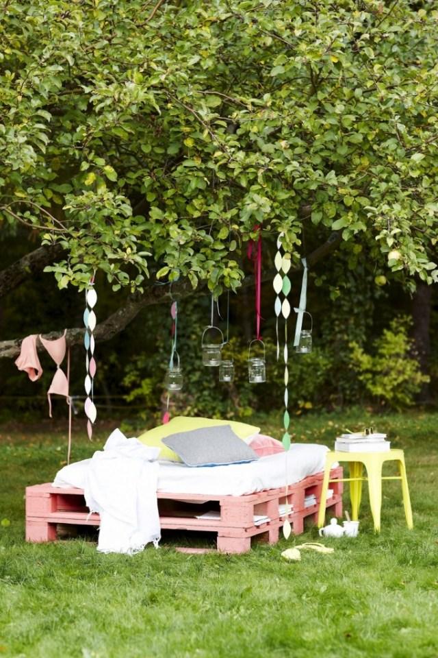 DIY Φτιάξτε το δικό σας κρεβάτι - καναπέ κήπου από Ευρωπαλέτες2