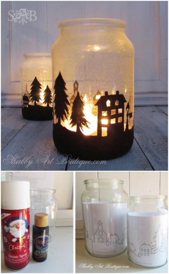 Χριστουγεννιάτικες κατασκευές με βάζα4