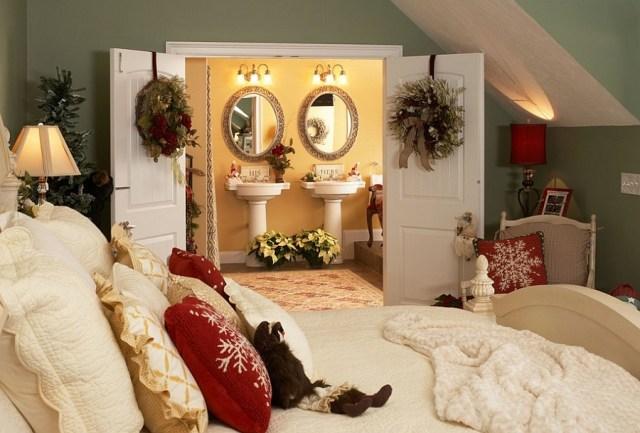 χριστουγεννιάτικη διακόσμηση κρεβατοκάμαρας7