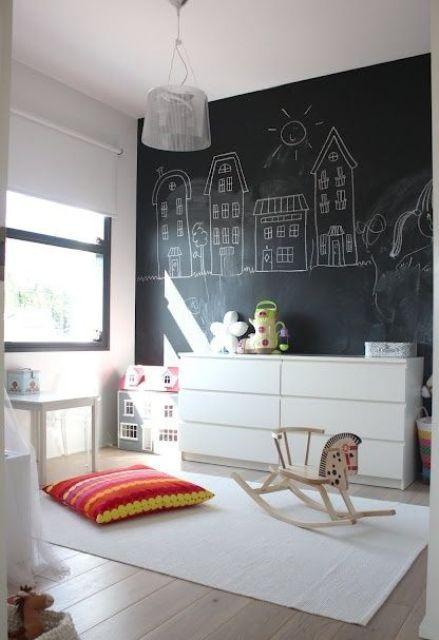 Ιδέες ντεκόρ μαυροπίνακα για παιδικά δωμάτια18