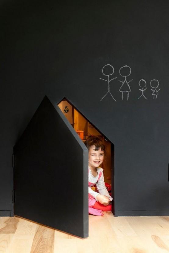 Ιδέες ντεκόρ μαυροπίνακα για παιδικά δωμάτια25
