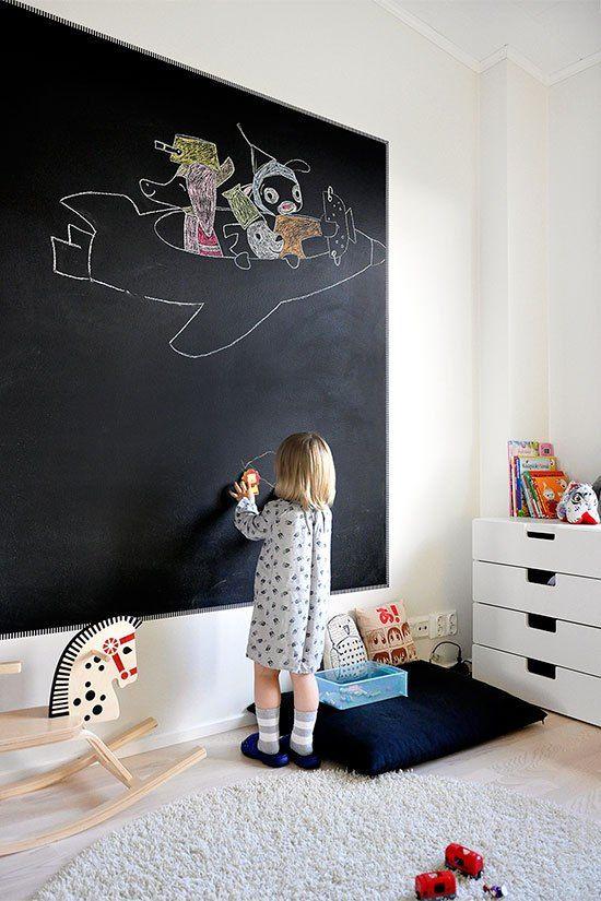 Ιδέες ντεκόρ μαυροπίνακα για παιδικά δωμάτια6