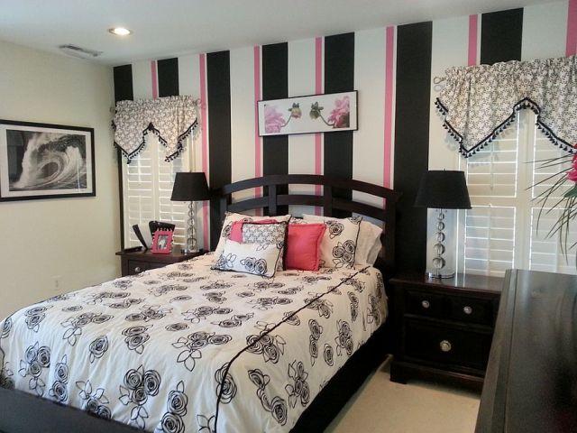 Μοντέρνα υπνοδωμάτια με Ριγέ τοίχους14