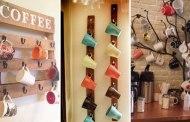 15 Διασκεδαστικές και πρακτικές DIY ιδέες αποθήκευσης για τις κούπες του καφέ στο σπίτι σας