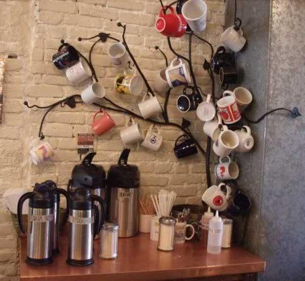 DIY ιδέες αποθήκευσης για τις κούπες του καφέ10